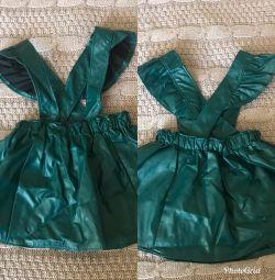Платье кожзам для девочки