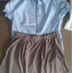 Shirt + skirt height 140cm (10years old)