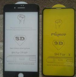 Захисне скло 3D, 5D, 9 D для Xiaomi, iPhone xonor