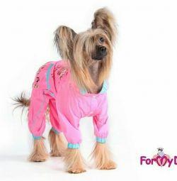 Дощовик рожевий (одяг для собак)