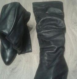 Αποκριάτικες μπότες από γνήσιο δέρμα