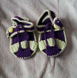 Cizme (Sandale) tricotate. confecție manuală