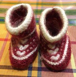 Wool baby booties / baby socks