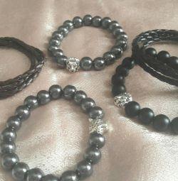Men's bracelets from natural stones
