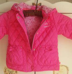 Καπιτονέ σακάκι για ένα κορίτσι 1-2 χρόνια