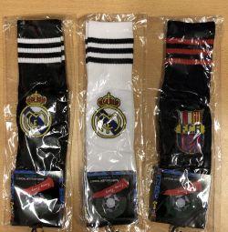 Football leggings with symbols of football teams