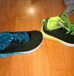 Sneakers on boys