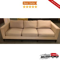 Christian Liaigre 3 Seater Luxury Sofa, New £11000