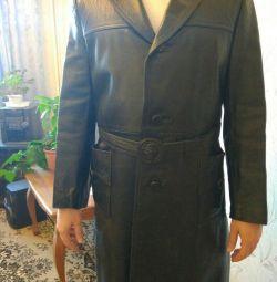 Γνήσιο δέρμα παλτό