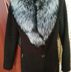 Palton cu blană adevărată
