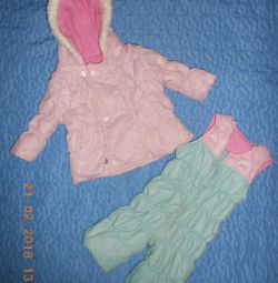Costume for a girl spring-autumn for 3-9 months.