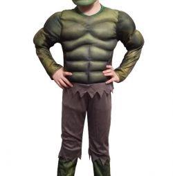 Costum de carnaval Hulk cu musculatura