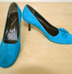 Pantofi pentru femei din piele de căprioară nouă, mărime 36