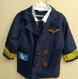 Costumul pilotului (pentru copii)