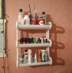 Shelf three-tier for the master of manicure