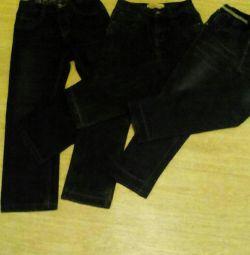 Jeans pentru baiat 7-9 ani