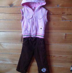 Warmed pink-brown set