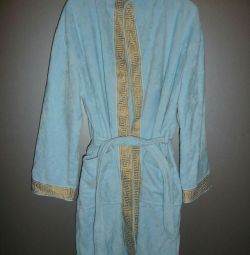 Bathrobe with hood Cleanelly, new