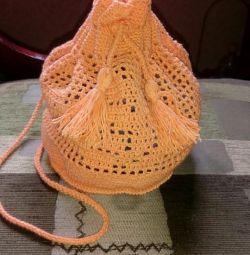 Geantă tricotată pentru copii