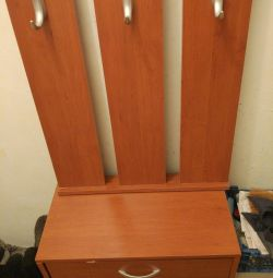 Chest of drawers, a cupboard with hanger for shoes