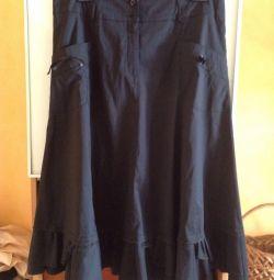 Black skirt, r.50-52