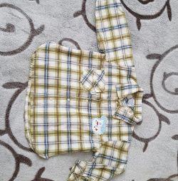 Рубашка байковая на 12-18м