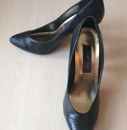 Γυναικεία παπούτσια μαύρο δέρμα σελ. 37 Αυστρία
