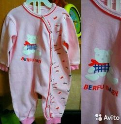 Overalls for a girl 0-6 months.