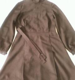 School dress brown new 140-68 woolen