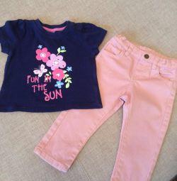 Jeans Italy + T-shirt 12 μήνες
