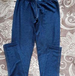 Лосины под джинсу, джеггинсы XS