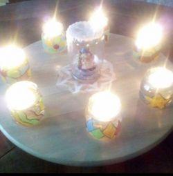 Candlesticks - jars for crafts