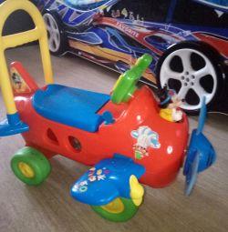 Tekerlekli Sandalye Pushkar Kiddieland Uçak Mickey Mouse