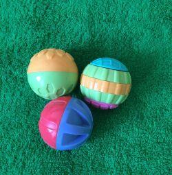 Set de bile tactile Playskool