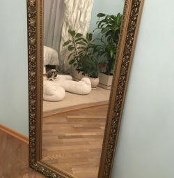 Καθρέφτης σε μπαγκέτα, διαστάσεις ύψος 138, πλάτος 67