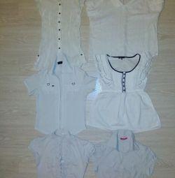 Μπλούζες λευκά πουκάμισα 42-46