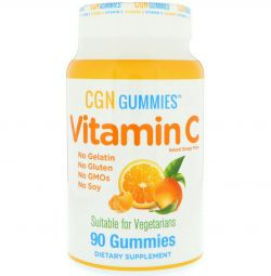 Vitamin C in chewable tablets