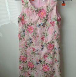 Φόρεμα ροζ με λουλούδια rr 146.