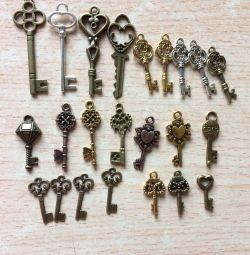 Pendants Keys are different, the price is for everything
