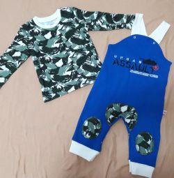 Set nou jacheta pentru copii și salopete