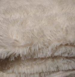 New plaid faux fur