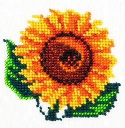 Set pentru broderie cu margele Floarea-soarelui.
