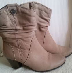 Winter ankle boots, genuine leather, r-37 (38)