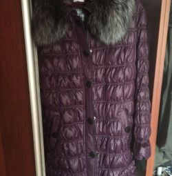 New down jacket with a fox collar