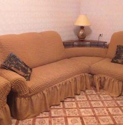 Κάλυμμα / eurocover για γωνιακό καναπέ