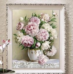 Diamond embroidery Bouquet of peonies