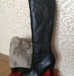 New urgent leather boots