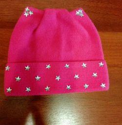 Örme şapka 4-6 yaş.