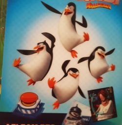 Album of penguins with cards