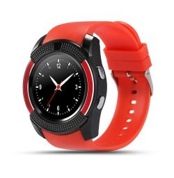 🔥 Smart watch V8 Red bt + Sim Shockproof New